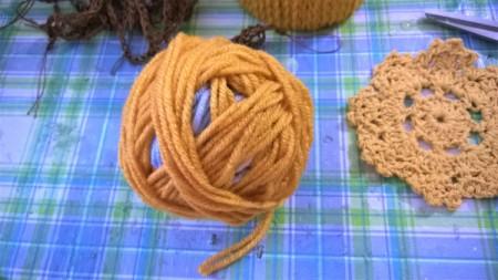 Funky Punky Autumn Decoration - ball of yarn
