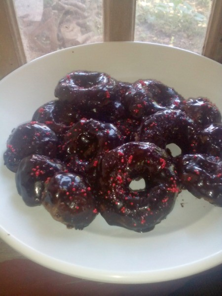 Double Chocolate Donuts ready to serve