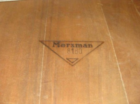 Value of MCM Mersman Coffee Table - stamp with model number