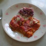 Zucchini Manicotti Rolls on plate