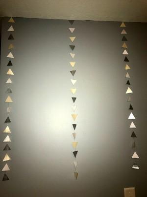 Colored Paper Triangle Wall Decor
