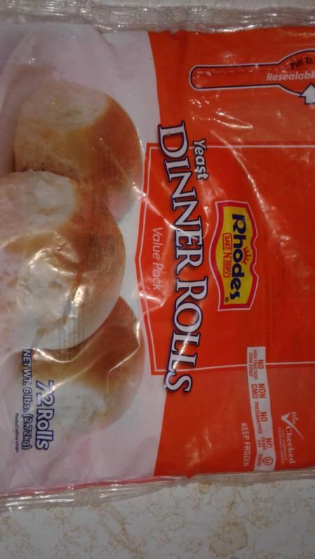 rhodes frozen dinner roll dough