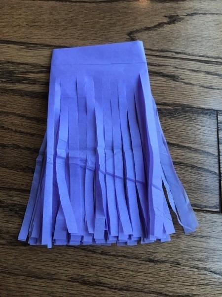 Tissue Paper Tassel Garland Decor - second color