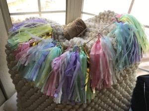 Tissue Paper Tassel Garland Decor