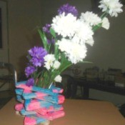 Popsicle Stick Vase - vase with flowers