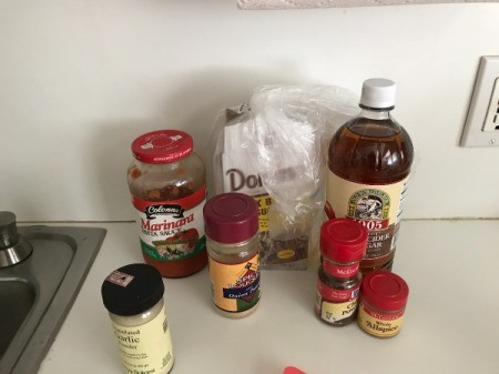 Homemade Chili Sauce ingredients