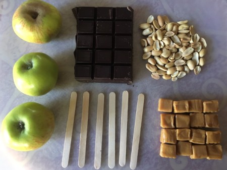 Caramel Apple Slice Pops ingredients