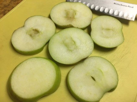 whole apple slices
