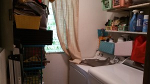 Reconfiguring a Small Kitchen and Laundry Room - laundry room