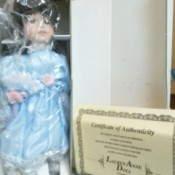 Information and Value of a Lauren Anne Porcelain Bisque Doll  - doll in box