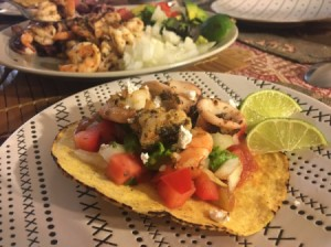 Simple Seafood Tostadas