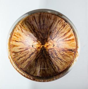 Burnt oil in a pan.
