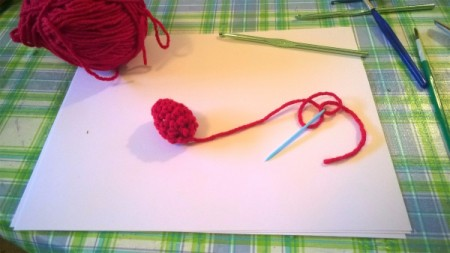 Calorie Free Crochet Cake Decoration - close