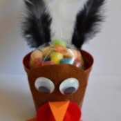 Goggle-Eyed Turkey Candy Box - filled with candy