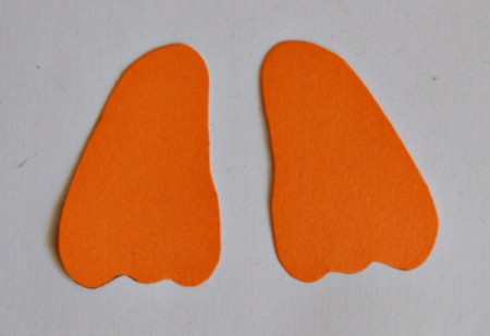 Goggle-Eyed Turkey Candy Box - trace and cut feet from the orange cardstock