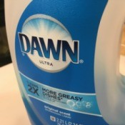 A bottle of dawn dish soap.