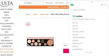 A browser extension that shows you discount codes for shopping websitesl