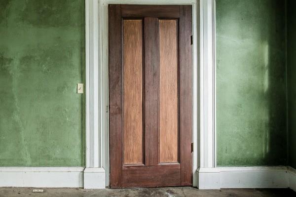 Old, Dirty Wood Doors.