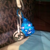 Furry Key Chain - attached as a decoration to a handbag