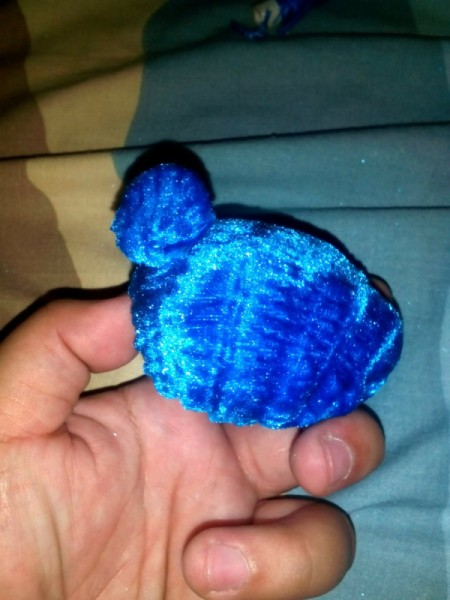 Furry Key Chain - attach the slightly bigger one on one side of the large ball, it will be the tail