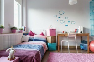 A cute and organized room.