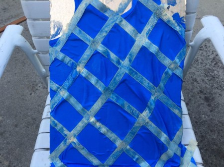 Tape-Dyed Top - allow to dry overnight
