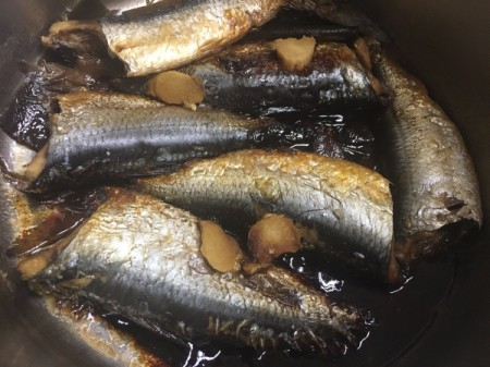 cooked Japanese Style Sardines