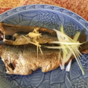 Japanese Style Sardines on plate