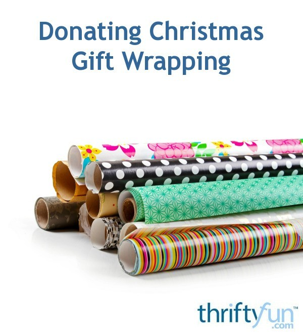 Donating Christmas Gifts: Donating Christmas Gift Wrapping To Charity