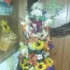 Fall Decorated Artificial Pencil Christmas Tree - decorated tall, thin tree