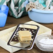 Homemade laundry soap ingredients.