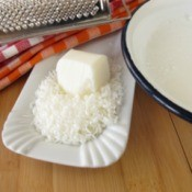 Grated soap, used for making homemade laundry soap.