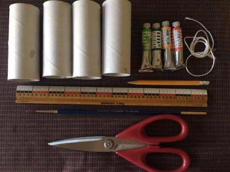 Cardboard Tube Pumpkin - supplies