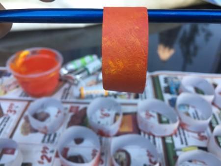 Cardboard Tube Pumpkin - paint the outside of the rings orange