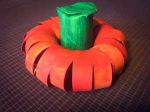Cardboard Tube Pumpkin - finished TP tube pumpkin