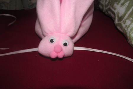 Make Boo-Boo Bunnies For a Baby Shower - add eyes and nose