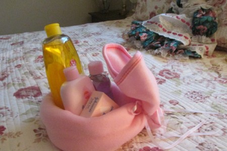 Make Boo-Boo Bunnies For a Baby Shower - large bunny with supplies