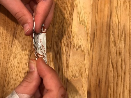 Making a Lid Spoon - use fingers to shape into a spoon