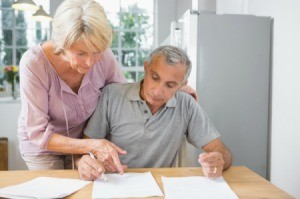 Older Couple Organizing Their Social Security Paperwork