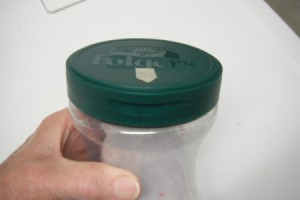Coffee Container for Collecting Dryer Lint