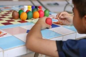 Coloring Eggs Christian Preschool
