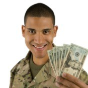 Army Soldier With Cash