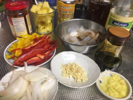 Pineapple Pepper Prawns ingredients