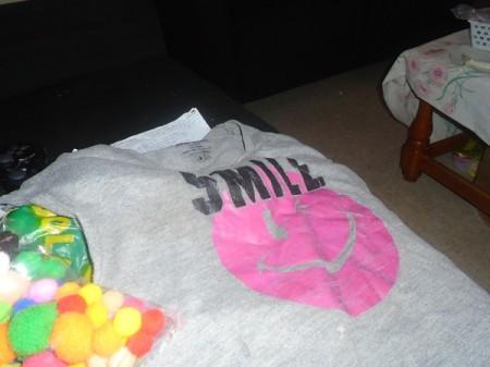 Bubble Gum Machine Costume - spread out shirt