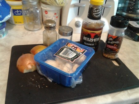 Barbecue Pulled Pork Bacon Burger ingredients