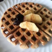 Crispy Buckwheat Waffles on plate