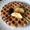 Crispy Buckwheat Waffles on plate