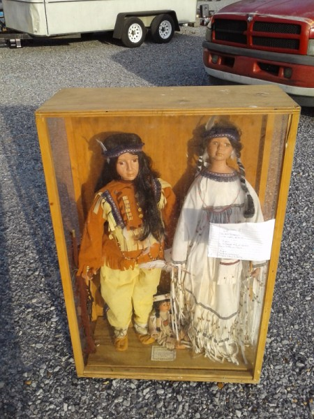Value of Life Sized Native American Porcelain Dolls