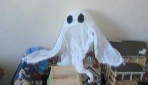 Halloween Ghost - ghost on top of shelf