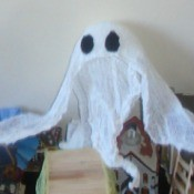 Halloween Ghost - ghost on top of shelf